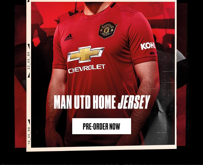 huge selection of 0caf1 2855f Pre-order The Manchester United 2019/20 Home Kit Now ...