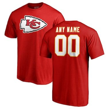 Kansas City Chiefs NFL Pro Line Any Name & Number Logo Personalized T-Shirt - Red