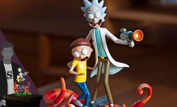 NOW AVAILABLE Rick and Morty Polystone Statue by Mondo
