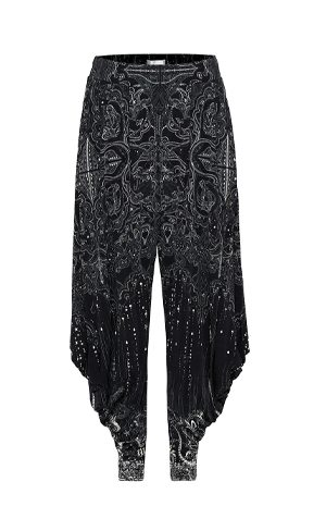 JERSEY DRAPE PANT WITH POCKET MIDNIGHT PEARL