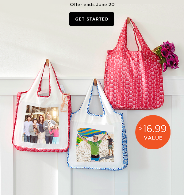 Shutterfly free reusable shopping bag code