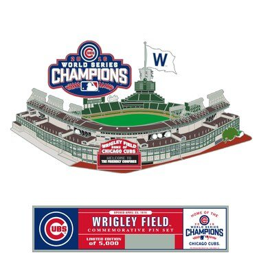Chicago Cubs 2016 World Series Champions Puzzle Pin Set