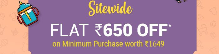 SITEWIDE - Flat Rs. 650 OFF* on Minimum Purchase worth Rs. 1649