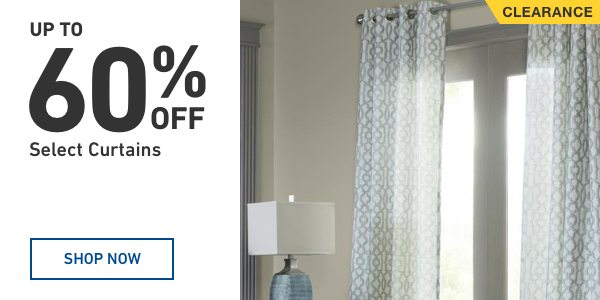 UP TO 60 percent OFF Select Curtains.