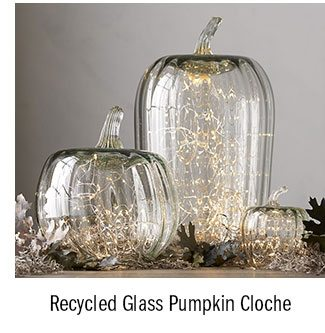 Recycled Glass Pumpkin Cloche