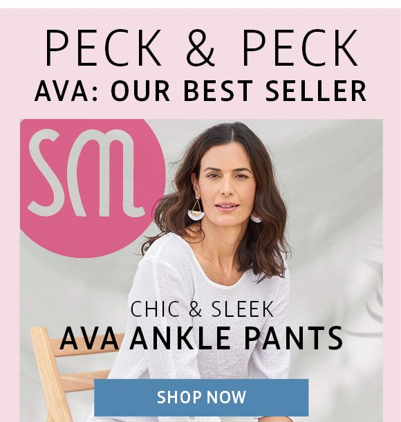 Peck & peck - Ava: our best seller - chic and sleek ava ankle pants
