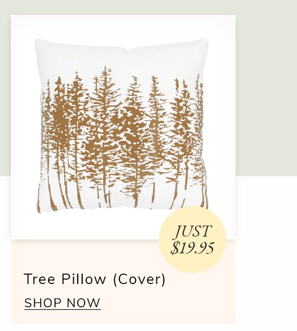 Tree In A Line Brown/White Pillow Cover | SHOP NOW