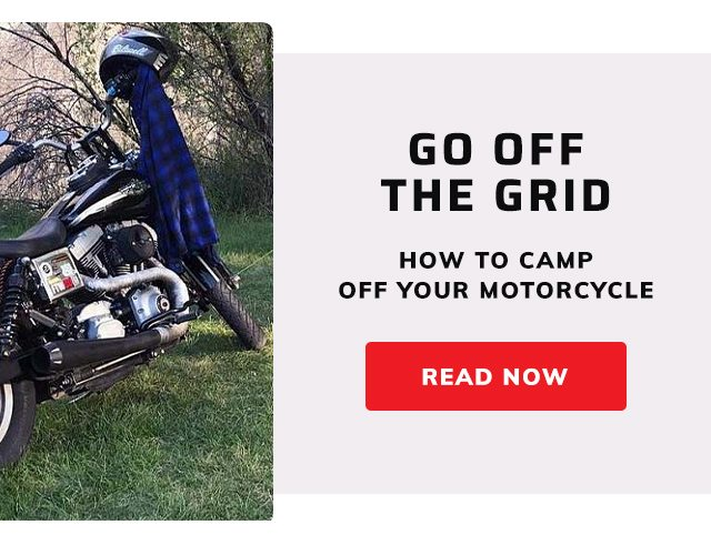 How to camp off your motorcycle