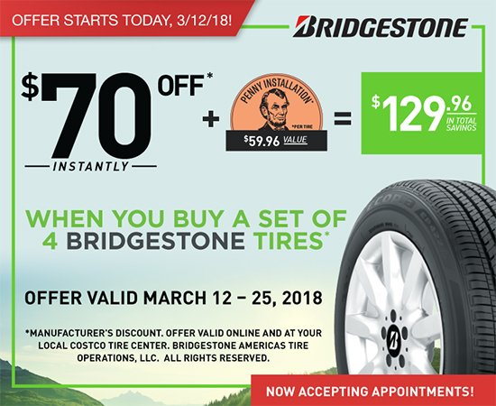 Starts Today! Bridgestone Penny Install - Plus Warehouse Hot Buys