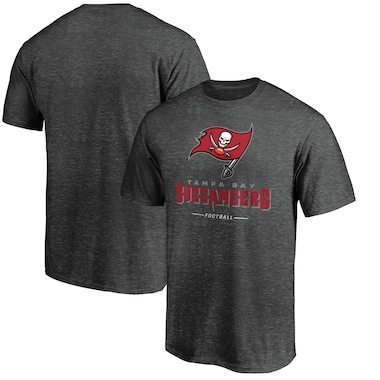 Tampa Bay Buccaneers NFL Pro Line by Fanatics Branded Team Lockup T-Shirt - Heather Gray