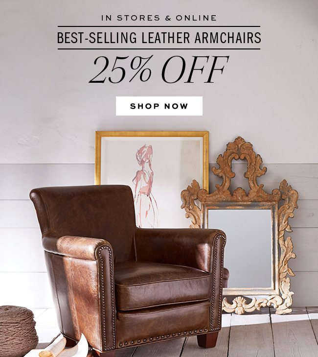 Classic Compact Meet Irving 25 Off Leather Armchairs Pottery Barn Email Archive