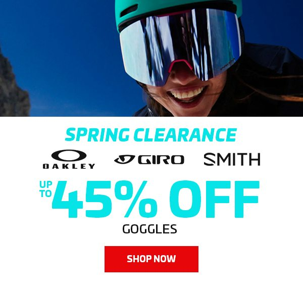 UP TO 45% OFF GOGGLES - BANNER