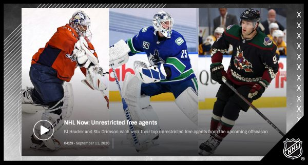 NHL free agency to start Oct. 9