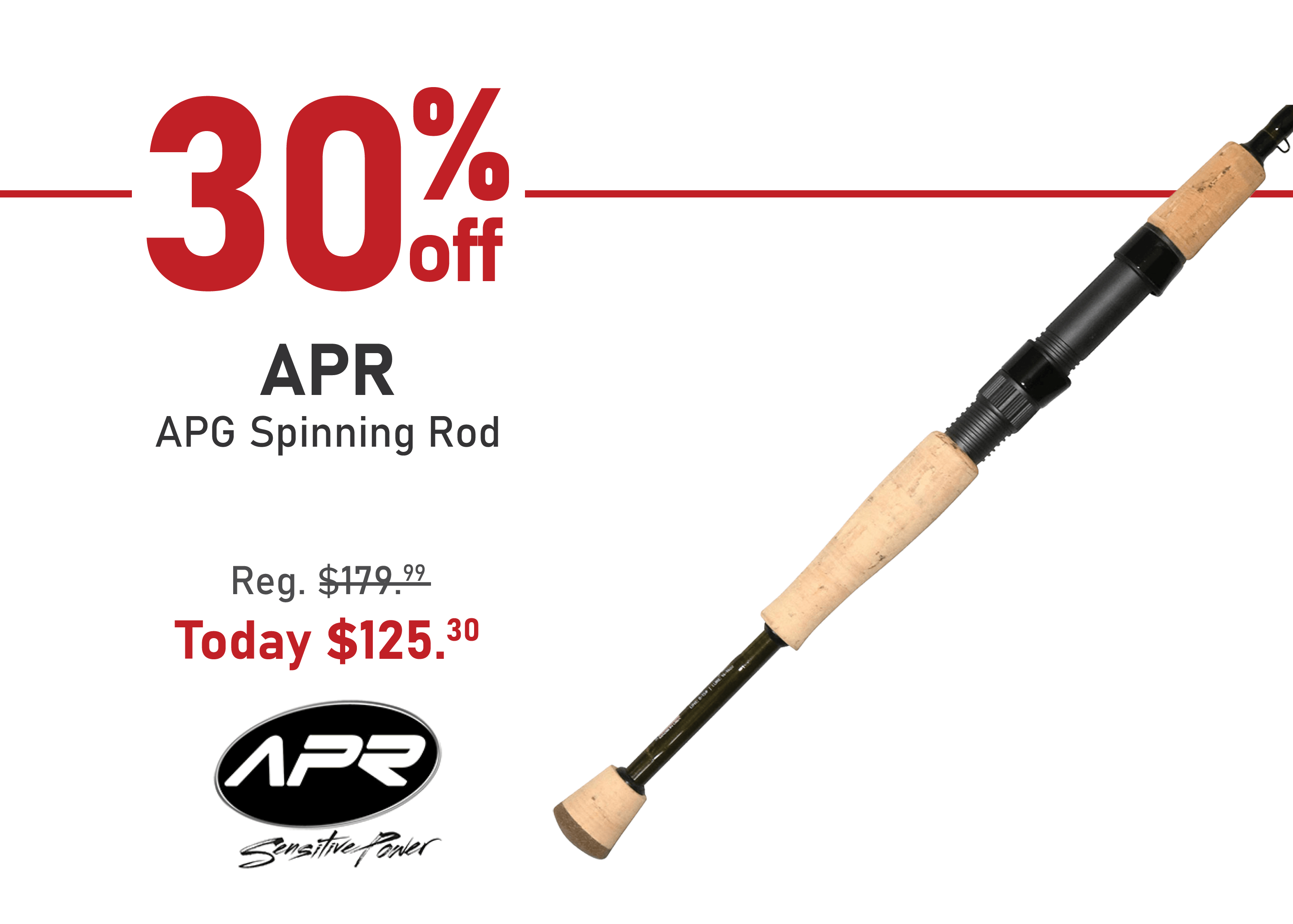 Save 30% on the APR APG Spinning Rod