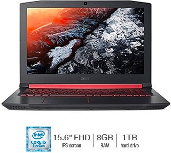 Acer® NITRO 5 Gaming Laptop featuring Intel Core i5-8300H Processor *4GB GeForce® GTX 1050 Graphics