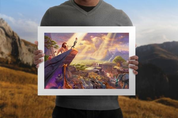 The Lion King Unframed Limited Edition Paper Art Print by Thomas Kinkade Studios