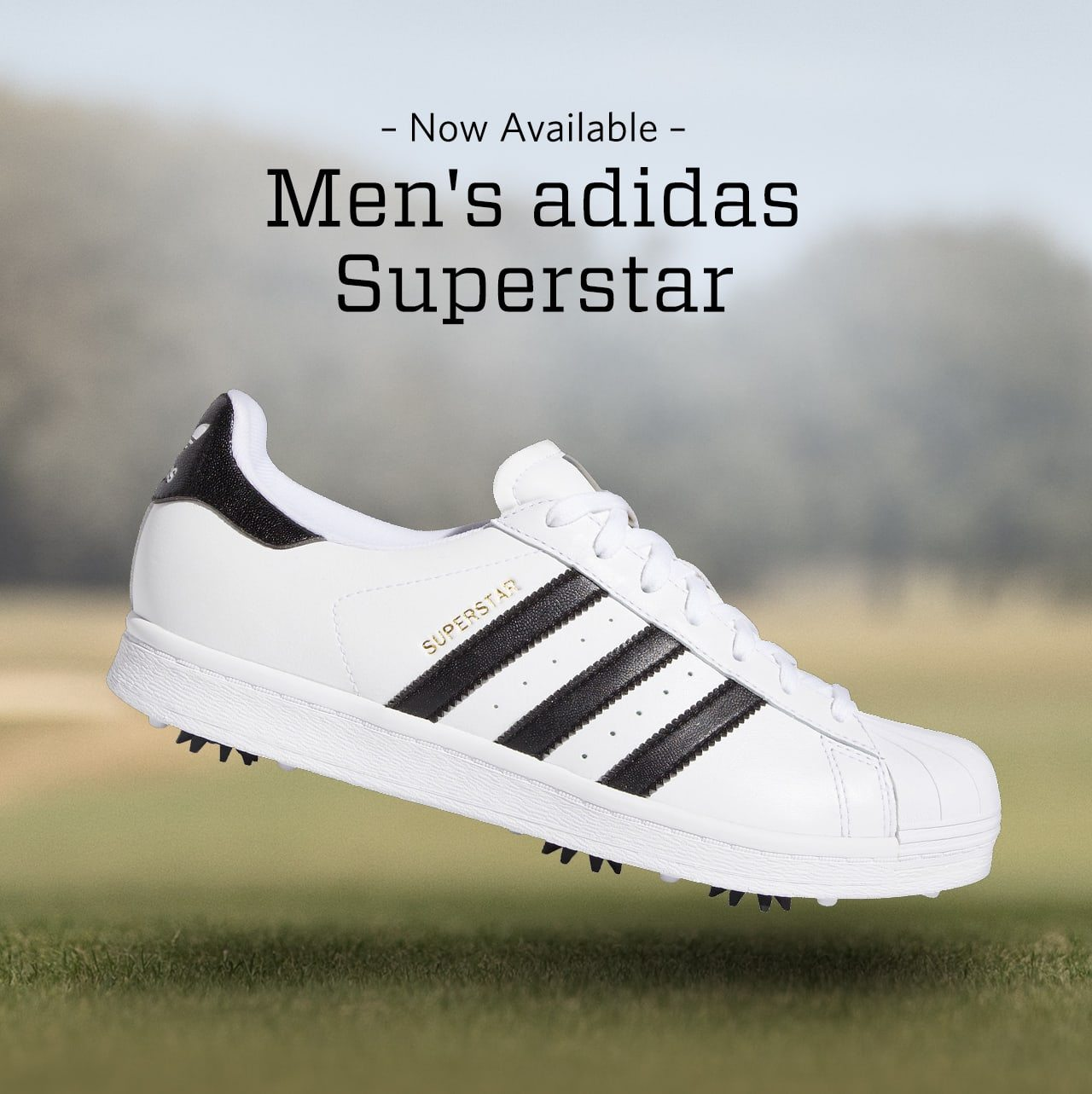 Now available. Men's adidas superstar.
