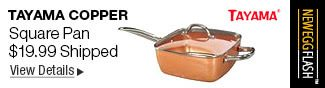 NeweggFlash Tayama TCSP-10 Copper Induction Copper Square Pan