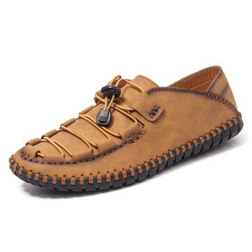 Hand Stitching Leather Shoes