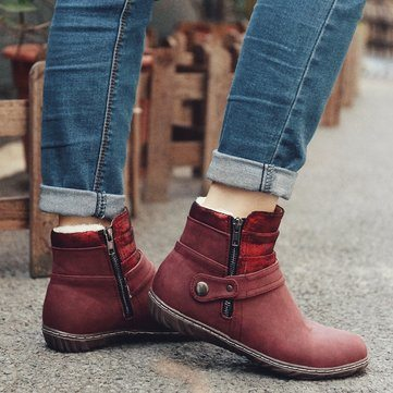 Flat Winter Ankle Boots