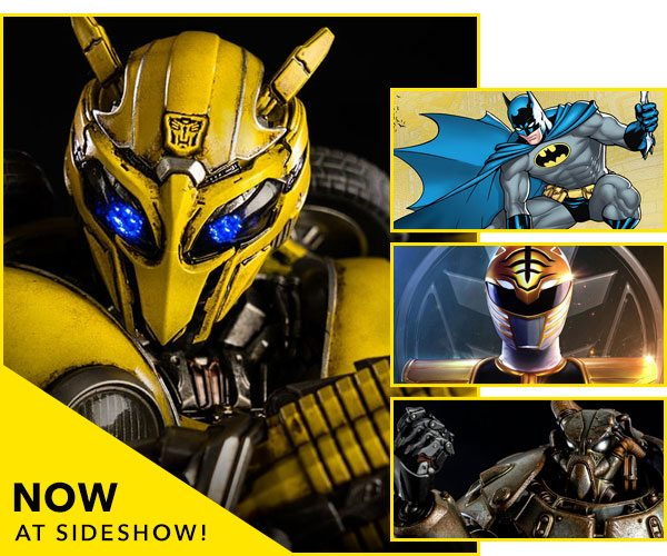 Now Available at Sideshow - Bumblebee, Batman, White Ranger, Power Armor