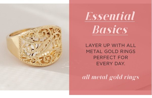 Shop all metal gold rings