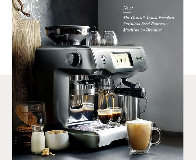 The Oracle ® Touch Brushed Stainless Steel Espresso Machine by Breville ®