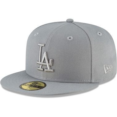 New Era Los Angeles Dodgers Gray Storm Tonal 59FIFTY Fitted Hat