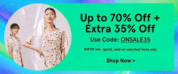 Up to 70% Off + Extra 35% Off