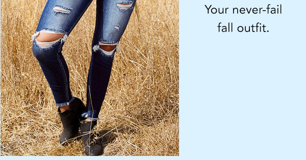 Your never-fail fall outfit.