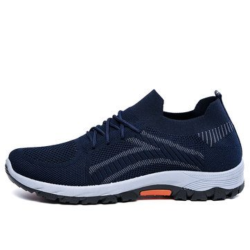 Knitted Fabric Breathable Casual Shoes