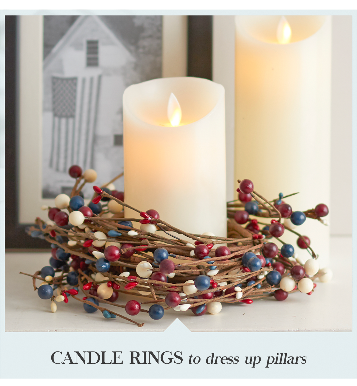 Candle Rings to dress up pillars