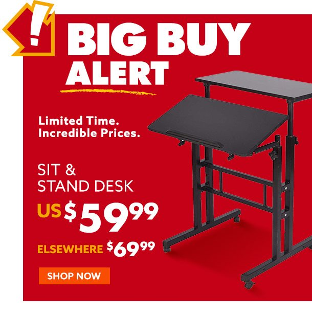 Big Buy Sit & Stand Deck 59 Dollars and 99 cents