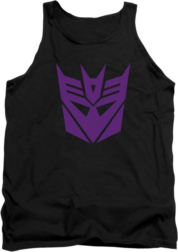Black Decepticon Logo Transformers Tank Top