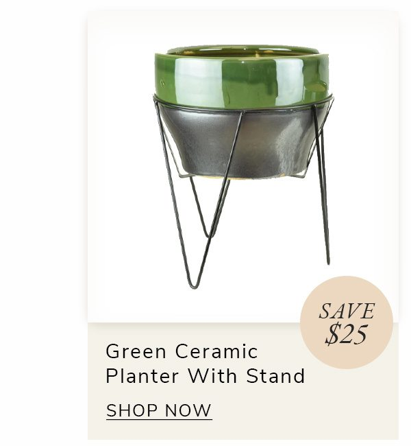Green Ceramic Planter with Stand | SHOP NOW