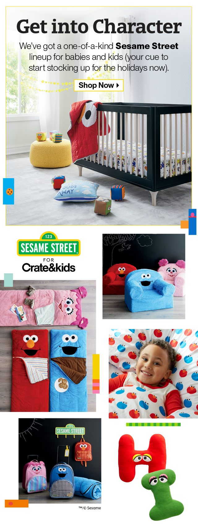 Shop Sesame Street for Crate&kids