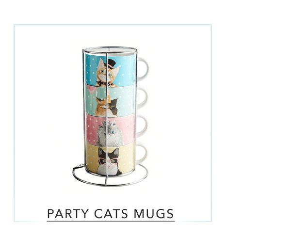 Pier 1 Party Cats Stackable Mugs Set of 4   SHOP NOW
