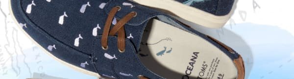 c541a2ea9be Oceana Washed Canvas Embroidered Whale Men s Culver Boat Shoes