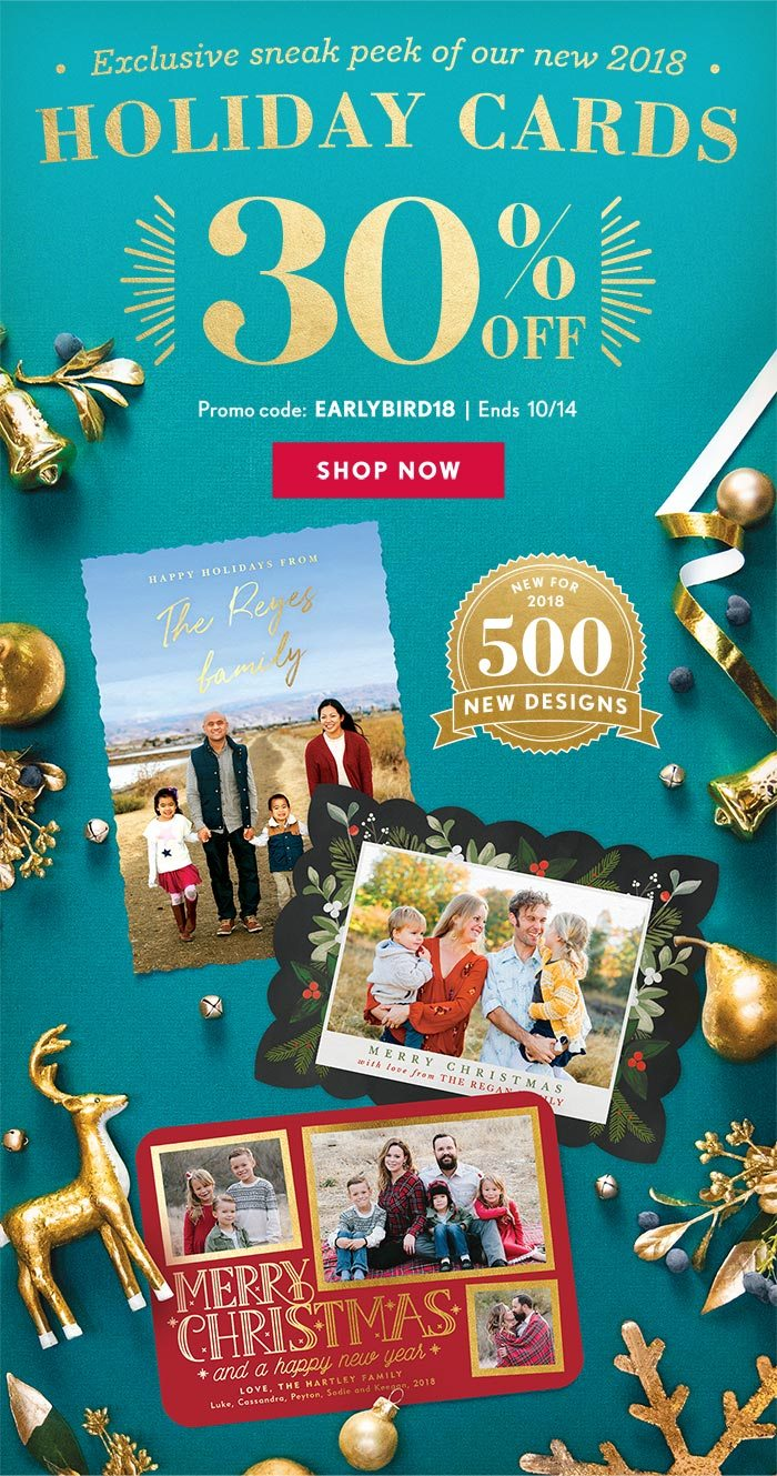 exclusive sneak peek of our new 2018 holiday cards 30 off promo code - Simply To Impress Christmas Cards
