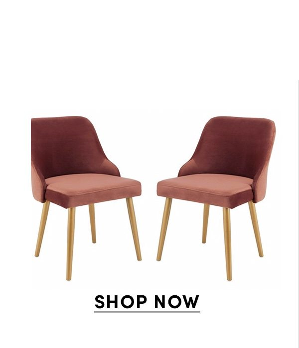 S/2 Andover Side Chairs, Dusty Rose Velvet