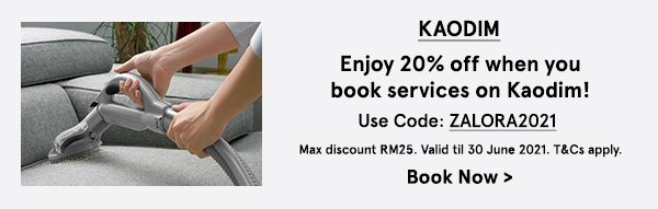 Enjoy 20% off when you book services on Kaodim!