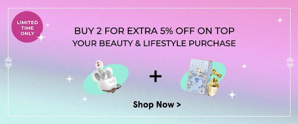 Buy 2 for 5% Off Beauty and Lifestyle