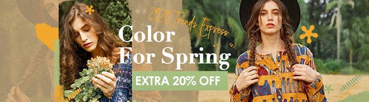 Women Spring Color Fashion Extra 20% OFF