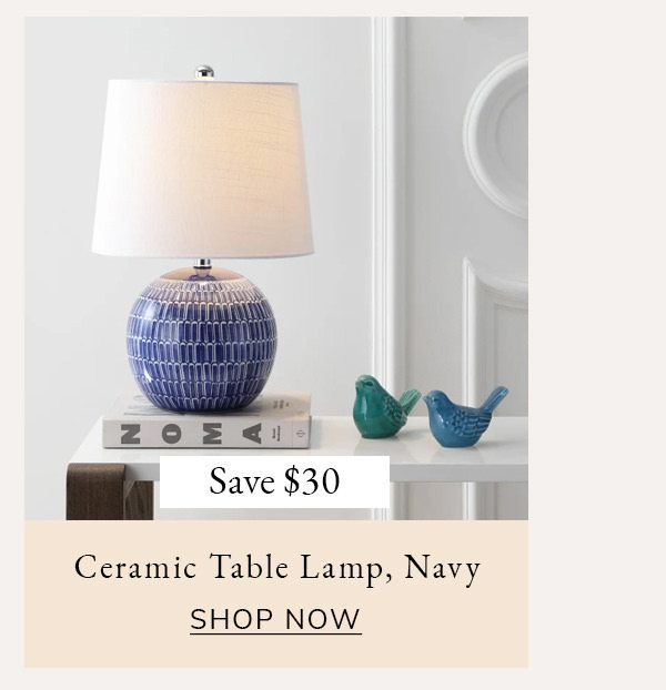 Ceramic Table Lamp, Navy   SHOP NOW