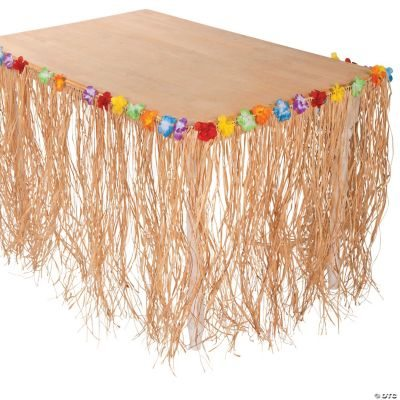 Raffia Flowered Table Skirt
