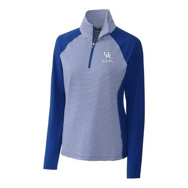 Kentucky Wildcats Cutter & Buck Women's Forge Tonal Half-Zip Pullover Jacket - Blue
