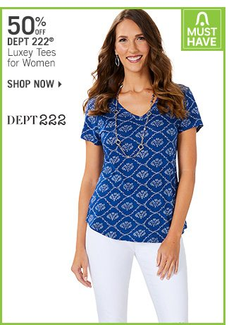 Shop 50% Off Dept 222 Luxey Tees for Women