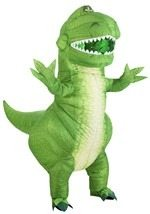 Disney Toy Story Rex Inflatable Costume for Adults