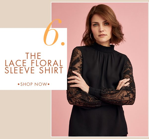 Best Seller - The Lace Floral Sleeve Shirt