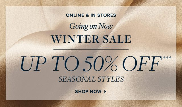 WINTER SALE | UP TO 50% OFF